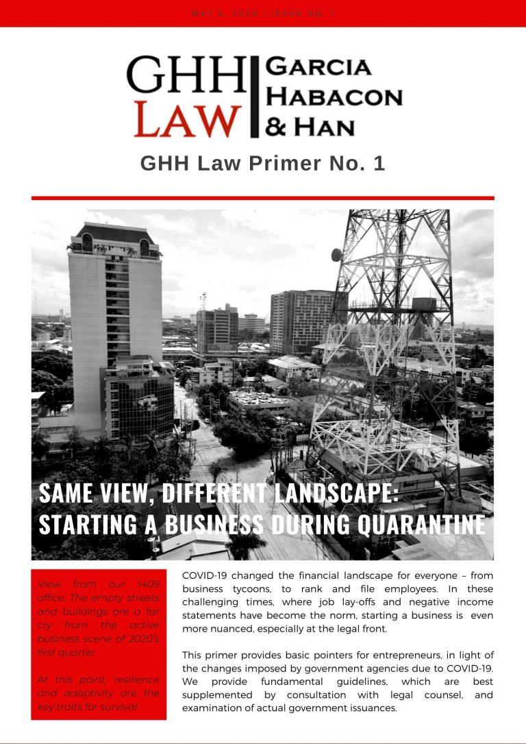 GHH Law Primer No. 1