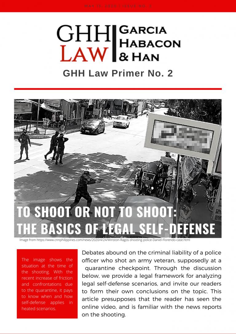 GHH Law Primer No. 2