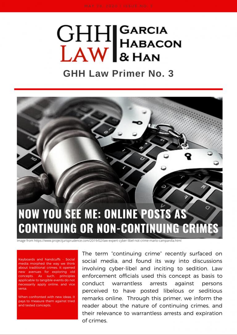 GHH Law Primer No. 3