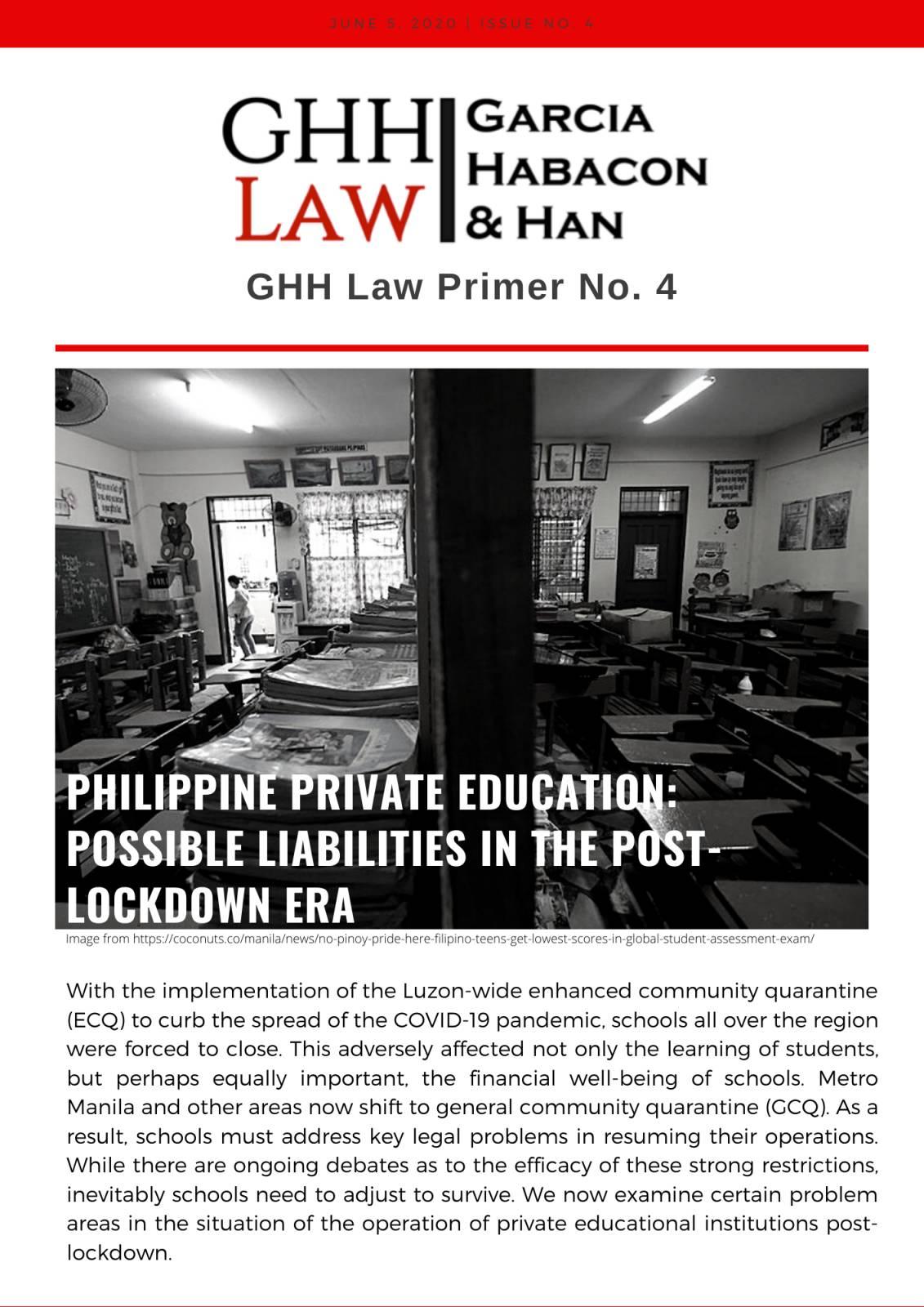 GHH Law Primer No. 4
